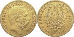 10 Mark, Albert König von Sachsen (1873 - 1902), Deutsches Reich 1875