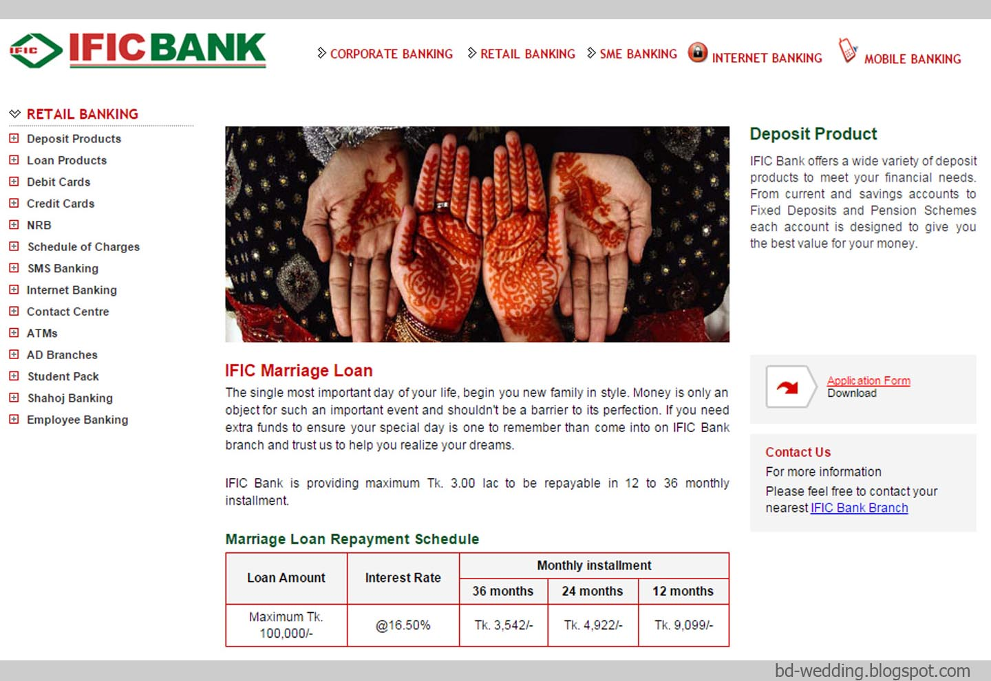 easy marriage loan for bangladeshi wedding loans This is a picture taken from a bank s website here showing information about wedding loans