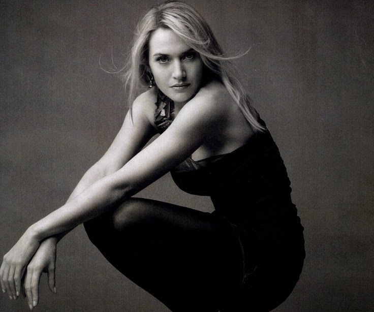 Kate Winslet Beautiful Style Black&White Photography