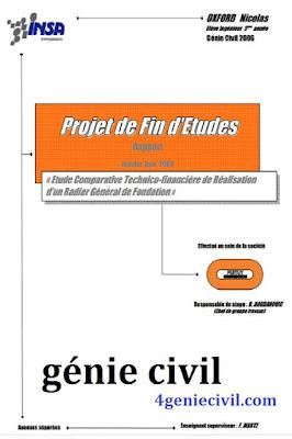 PFE en génie civil en pdf - Radier général