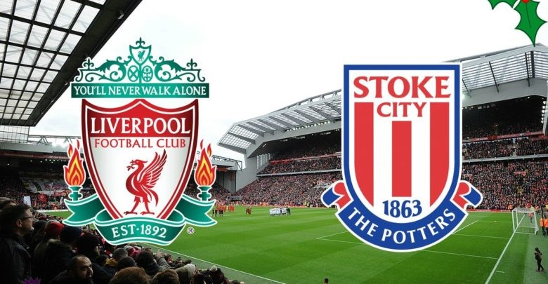 Liverpool FC and Stoke City's Club Crests