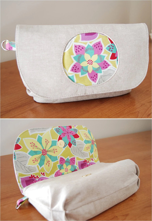 The Morning Glory Pouch Designed by Blue Calla Patterns