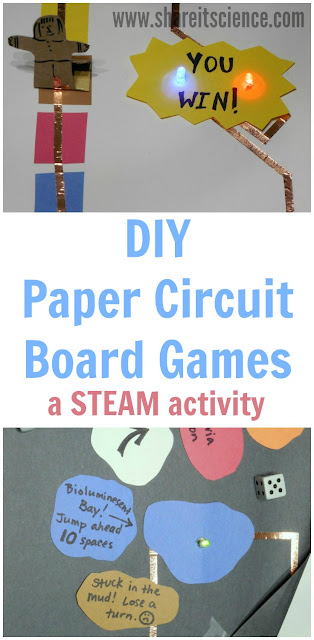 DIY Paper Circuit Board Games a Kids STEAM Activity
