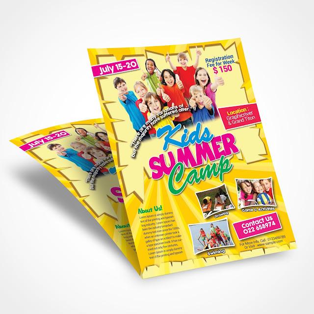 summer, camp, fest, clean, creative, professional, advertisement, advert.
