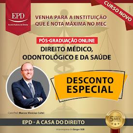 PÓS-GRADUAÇÃO DIREITO MÉDICO, ODONTOLÓGICO E DA SAÚDE (EaD)