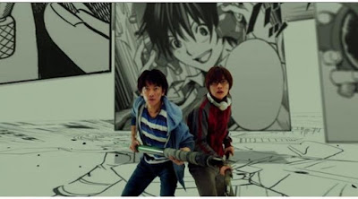 duel mashiro eiji, mashiro vs eiji bakuman, takagi vs eiji bakuman, bakuman live action, duel mangaka, duel legendary mangaka, battle bakuman, fight bakuman live action