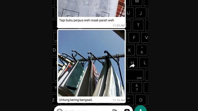 Buku Anak STM Basah Kena Water Cannon, Viral Foto Bukunya yang Lagi Dijemur