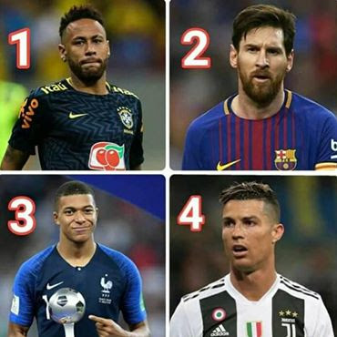 Let's debate who is the best player In the world Right now? 1: #Neymar Jr🇧🇷 2: #Leo #Messi 🇦🇷 3: #Kylianmbappe 🇫🇷 4: #C Ronaldo🇵🇹