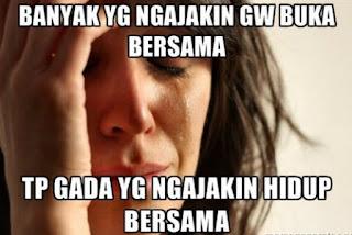 Gambar Meme Lucu Buka Puasa Ramadhan Kocak Jomblo