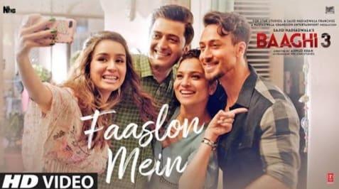 Faaslon Mein Lyrics in Hindi, Sachet Tandon, Baaghi 3