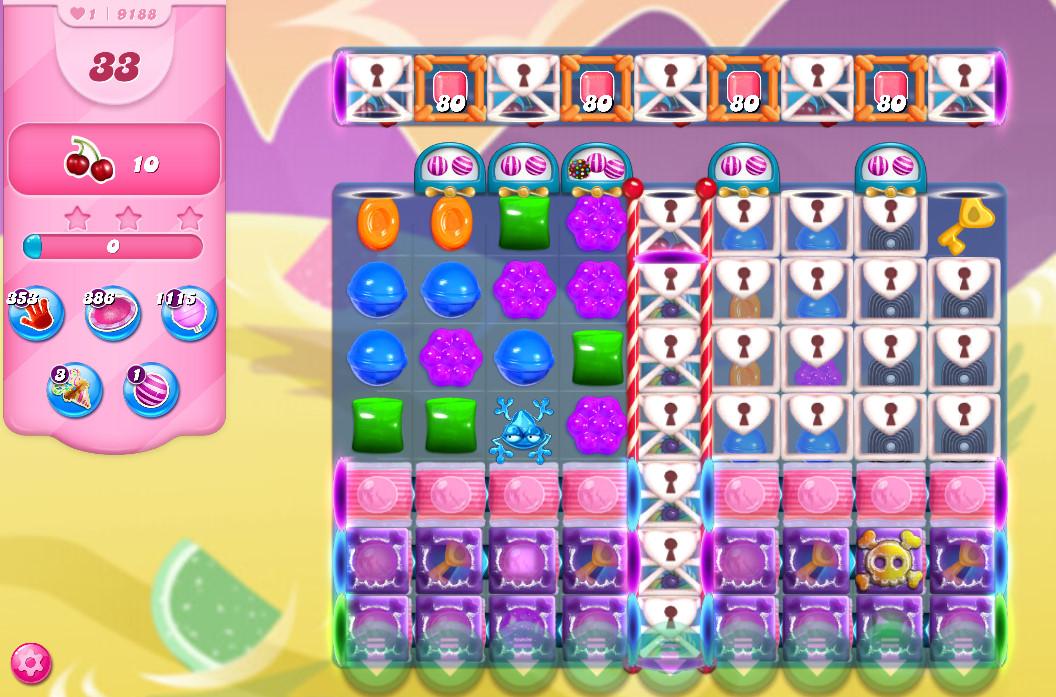 Candy Crush Saga level 9188