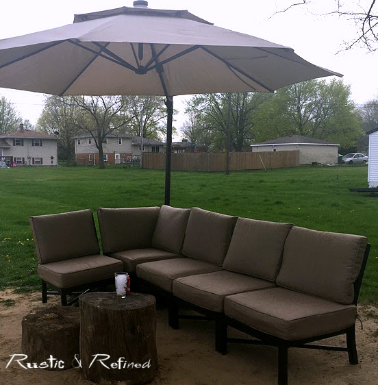 New outdoor furniture for the patio