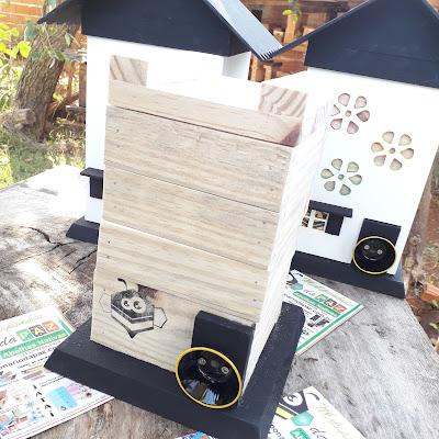 Chalés para abelhas nativas sem ferrão @meliponariodapaz