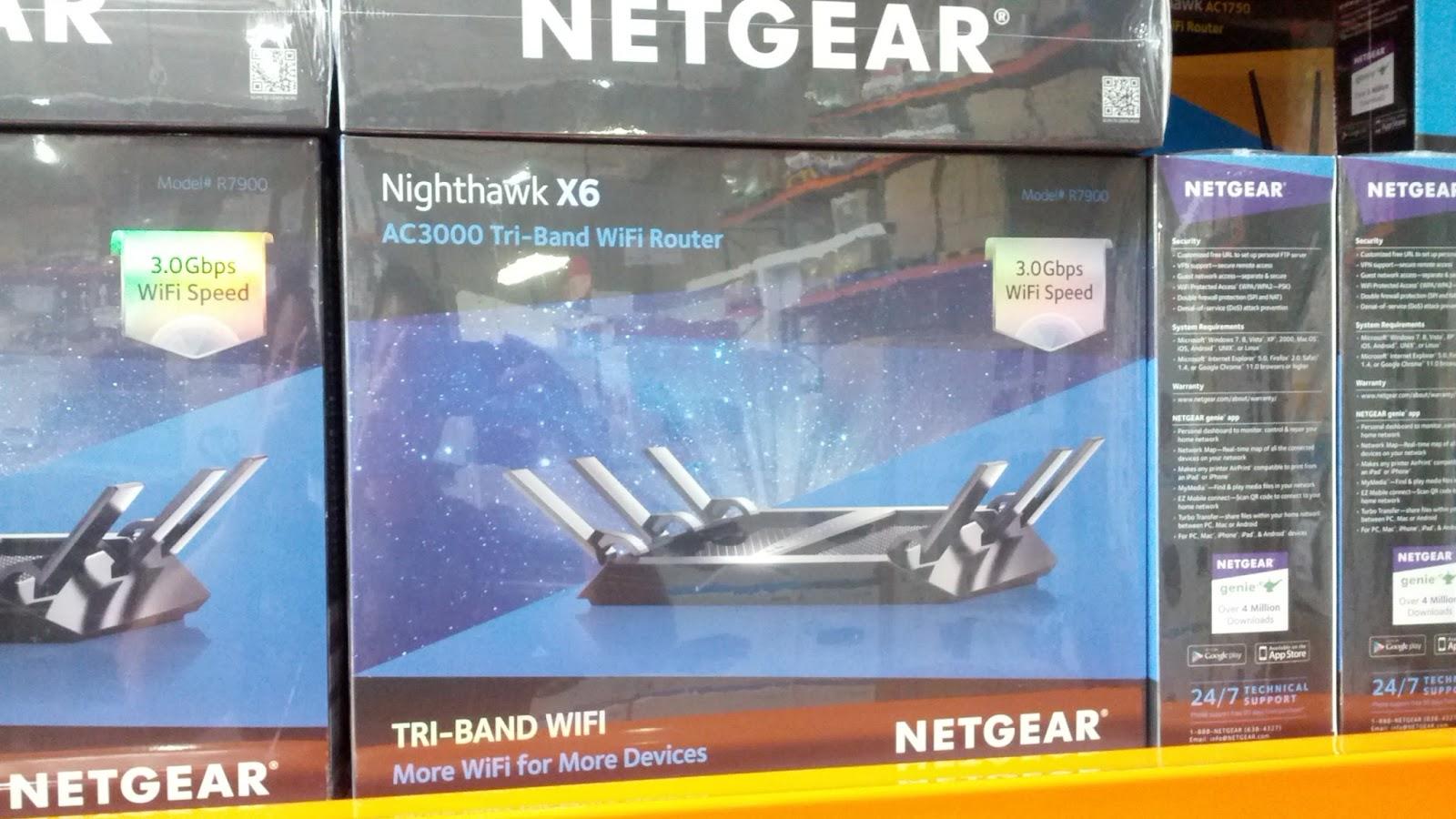 Netgear Nighthawk X6 AC3000 Wifi Router | Costco Weekender