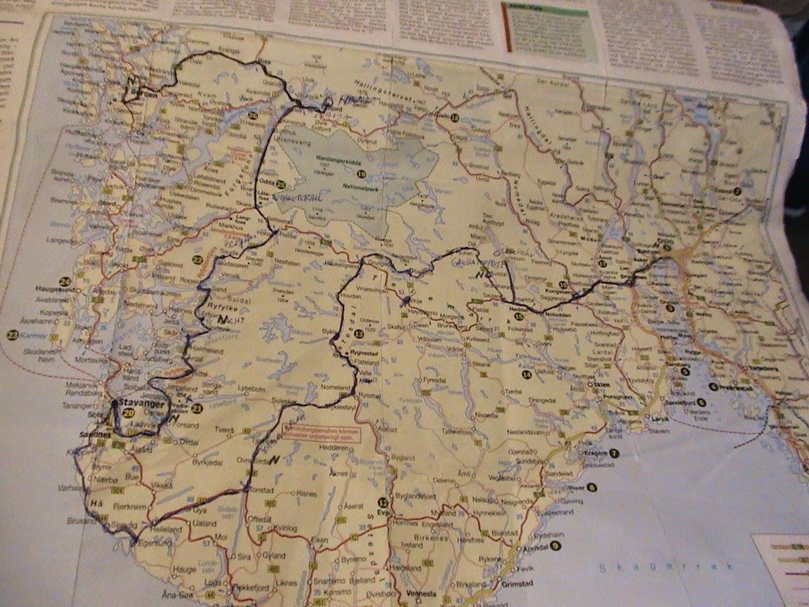 Karte Südnorwegen.Skandinavien Südnorwegen Karte Mit Plan Was Wir Gefahren Sind
