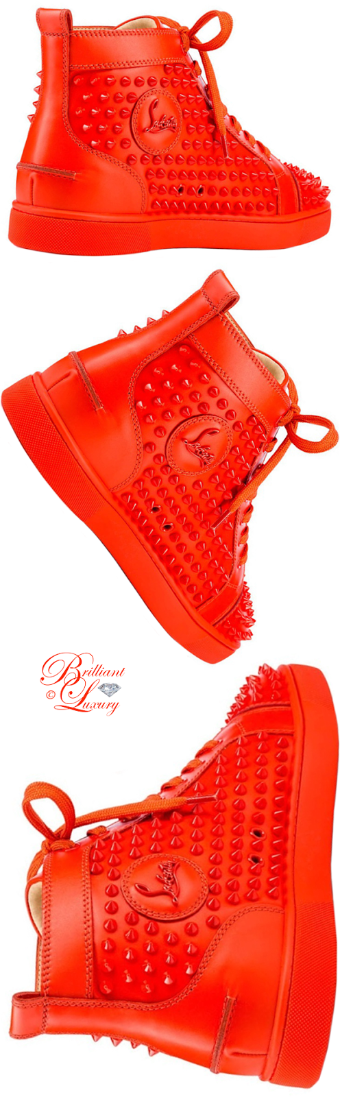 Brilliant Luxury ♦ Christian Louboutin Louis calf spikes sneaker