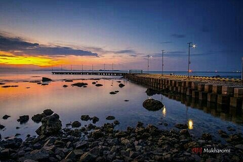 foto sunrise di pantai anyer