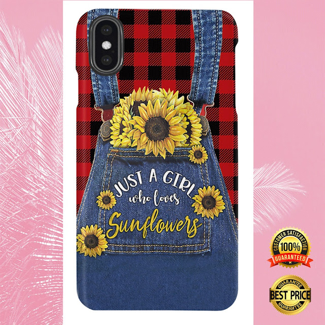 [Sale off] JUST A GIRL WHO LOVES SUNFLOWERS 3D PHONE CASE