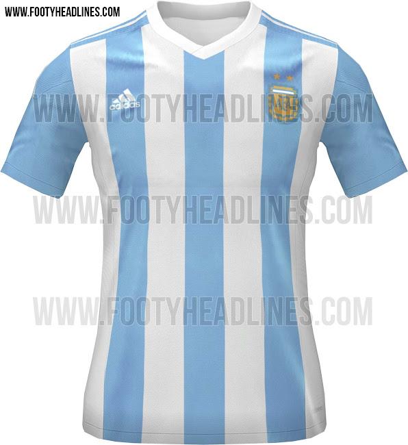 Desvelada la camiseta de Argentina para la Copa América de Chile ... d3fb3c9018781