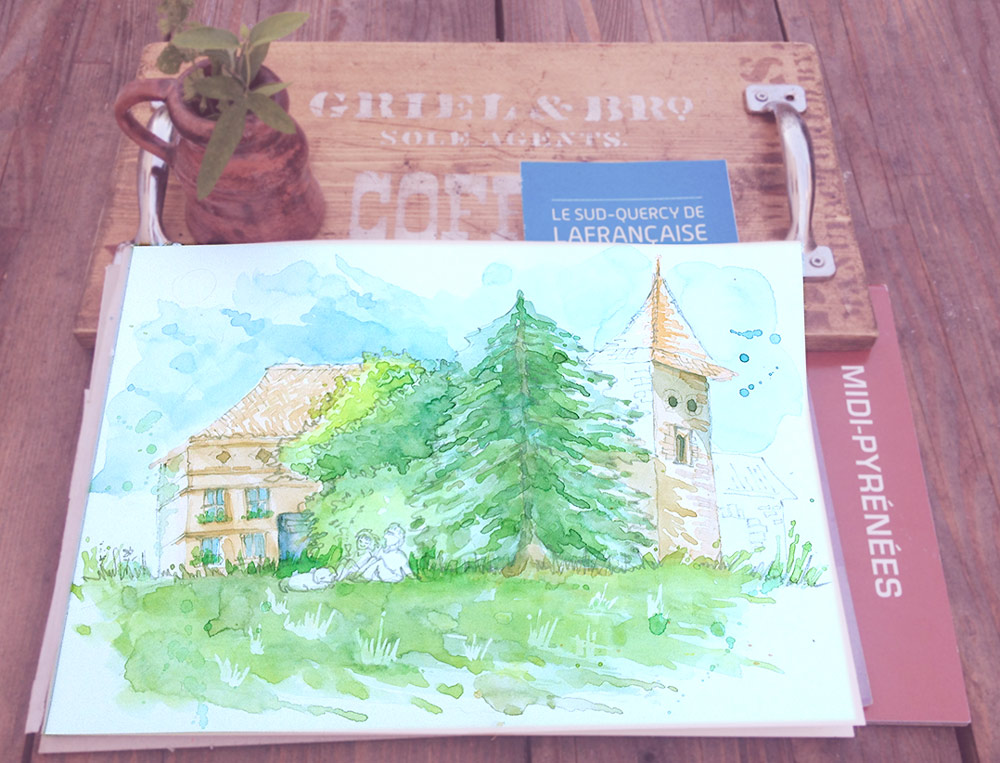 Lafrancaise, Watercolor Sketch
