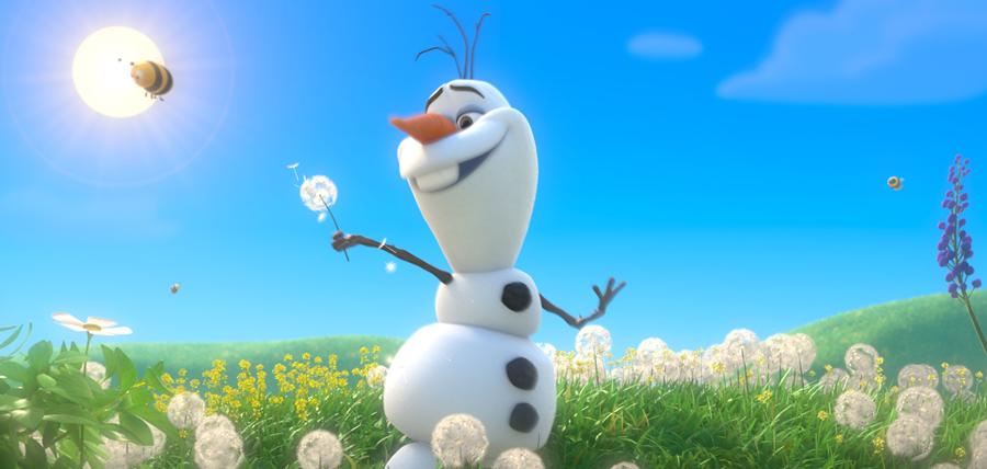Olaf se bucură de primăvară în animaţia Frozen Fever