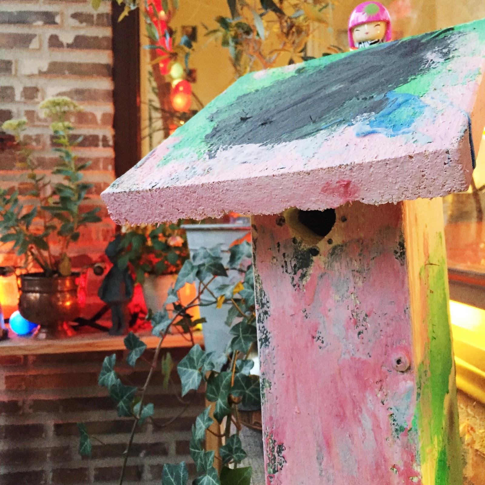 Bygg och måla en egen fågelholk.