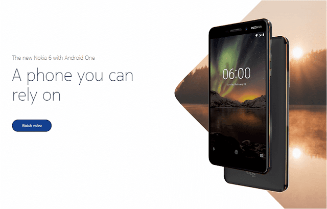 Nokia 6 (2018) runs on Android One