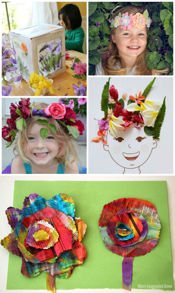 40+ Flower crafts and activities for kids #flowers #flowercraftsforkids #floweractivitiespreschool #flowercrafts #growingajeweledrose