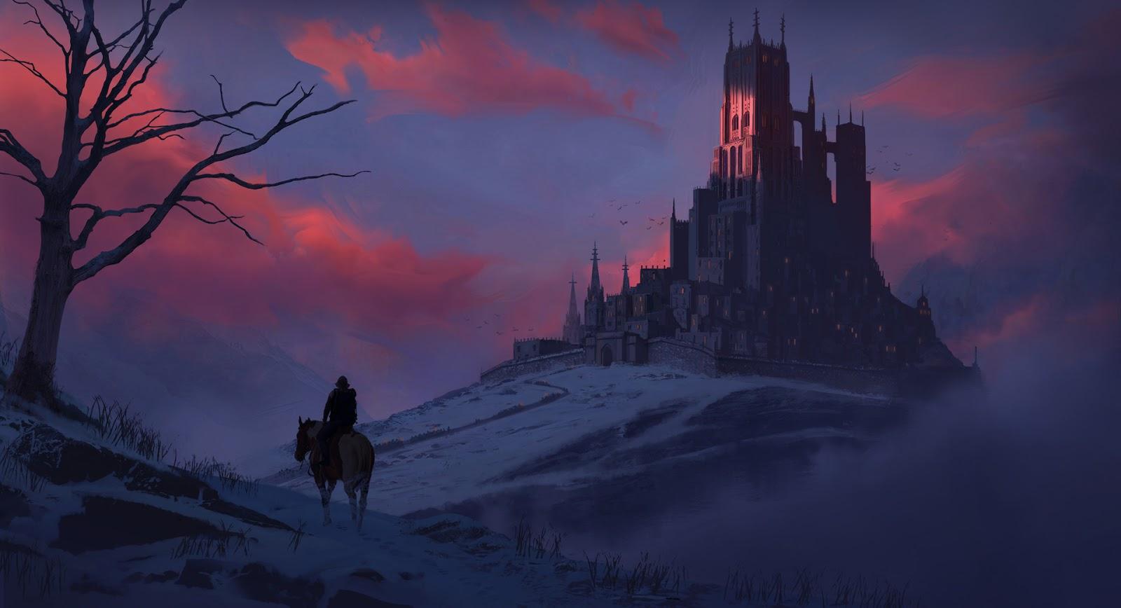 Мрачные замки фэнтези картинки