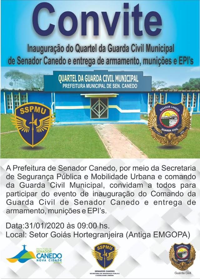 Senador Canedo: Município inaugura o novo Quartel da Guarda Municipal