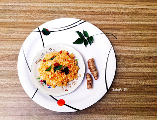 Mango ginger lemon rice