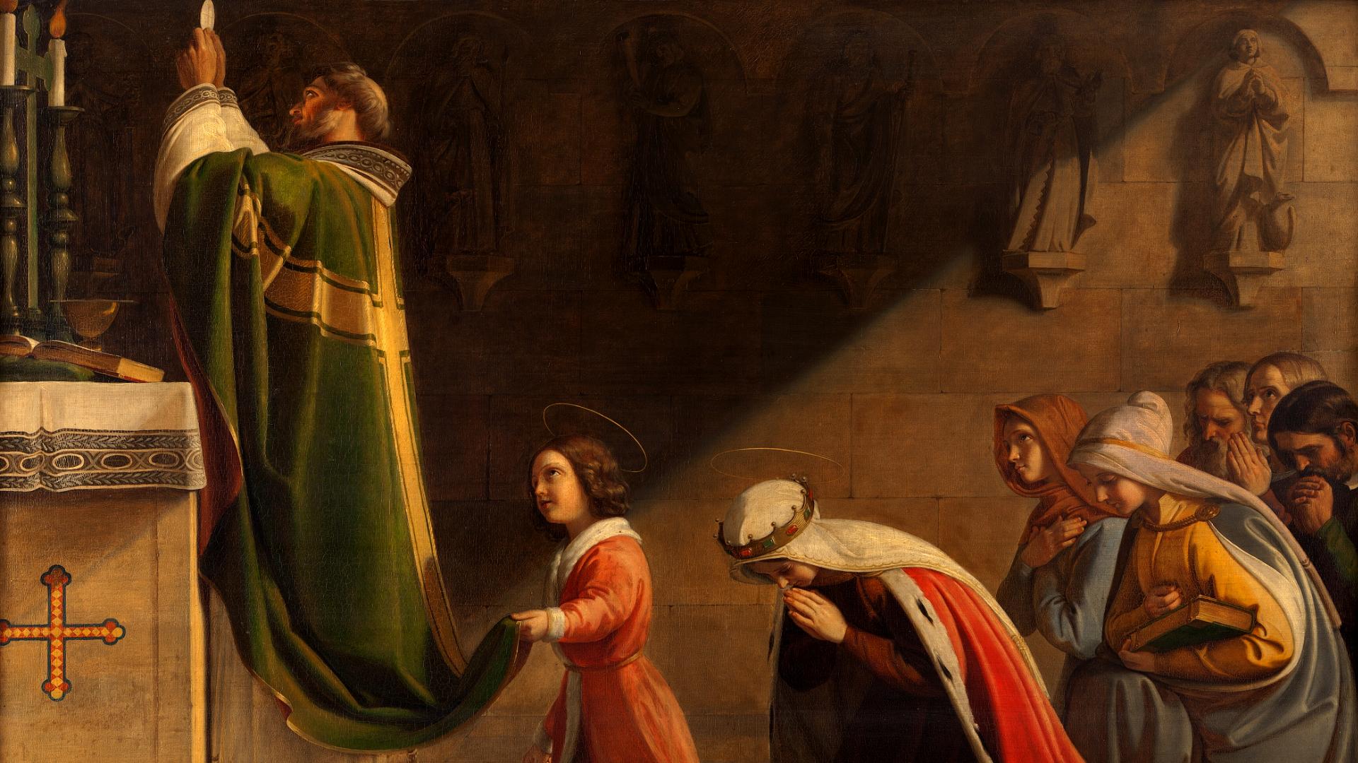 Santa Wenceslas e Santa Ludmila na Missa