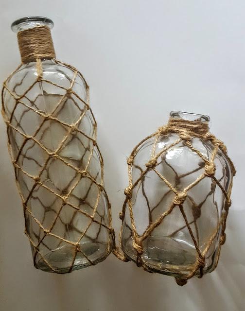 k&k interiors glass netted bottles