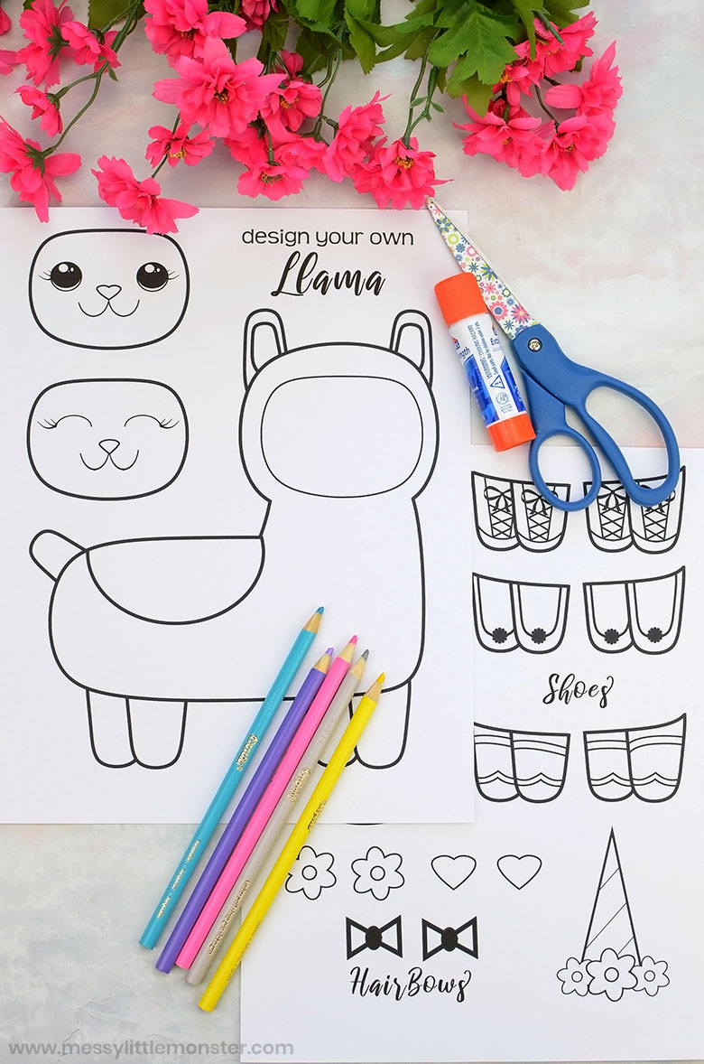 Llama coloring pages to print