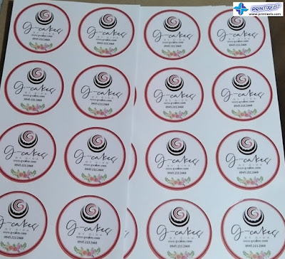Round Vinyl Sticker Labels Philippines - G-Cakes