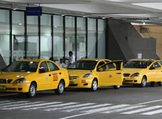 Yellow/Dollar Taxi in NAIA (Manila Philippines)