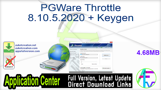 PGWare Throttle 8.10.5.2020 + Keygen
