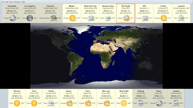 Screenshot EarthTime 6.1.4 Full Version