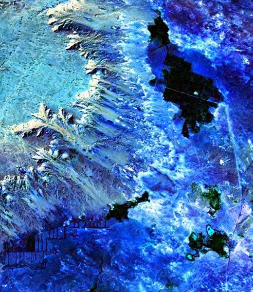 Foto Satélite NASA LANDSAT Oasis de Farafra
