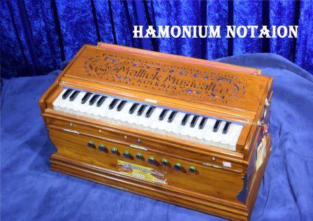Rang Barase Bheege on Hamonium Notaion