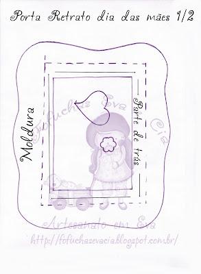 Porta Retrato E Porta Lixa De Unhas Dia Das Maes Eva Moldesdeeva