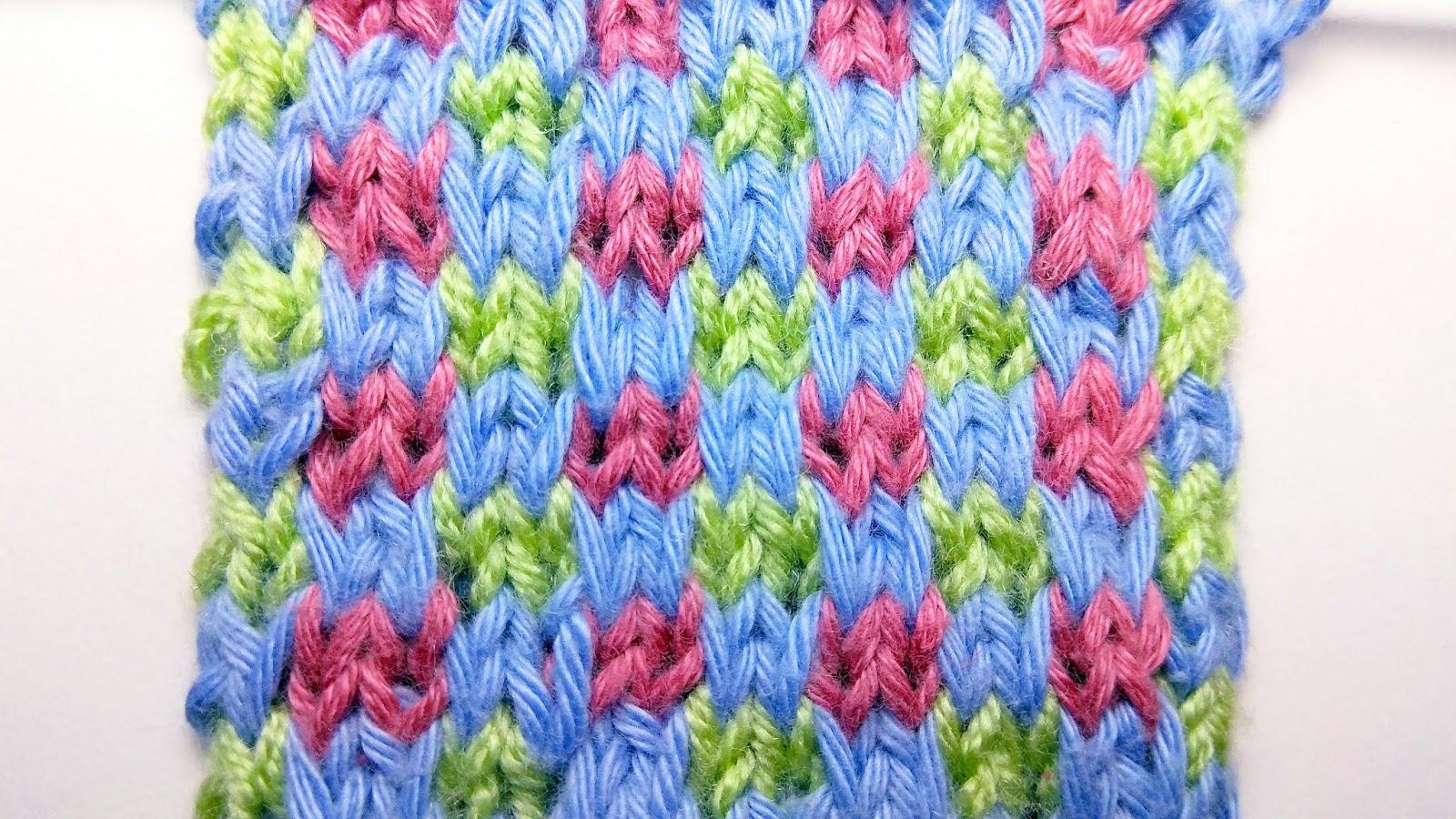 Colored Chess - Knitting Stitch