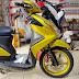 Sơn xe máy Yamaha Luvias vàng candy cực đẹp