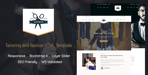 Tailoring and Fashion Website Template