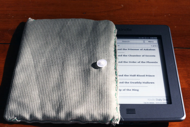 DIY Kindle case | Steph and Ben's Travels