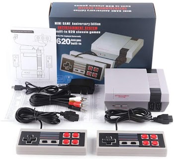 81% off Retro Game Console, AV Output NES Console Built-in Hundreds of Classic Video Games