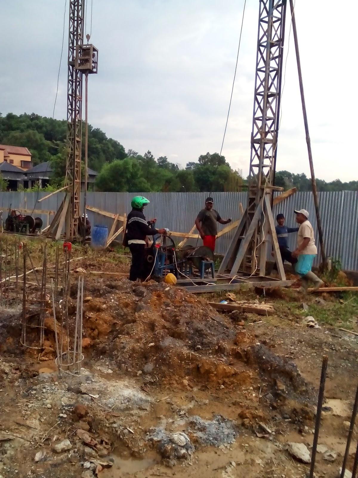 metode bor pile kering dry drilling