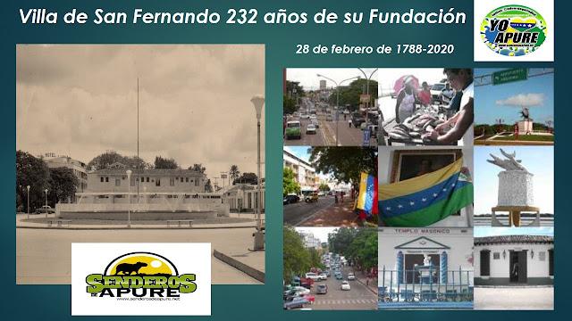 """Apure: Villa de San Fernando del """"Paso Real de Apure"""" cumple 232 años de su fundación. 28 de Febrero 1788-2020."""
