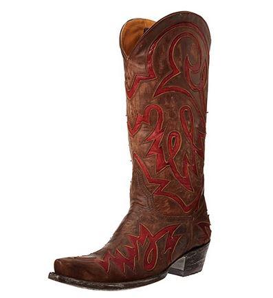 Lauren Inlay Western Boot Thursday Boots