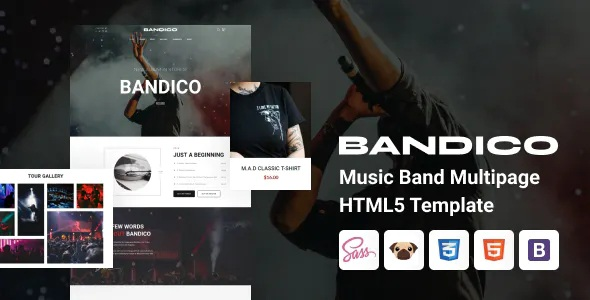 Best HTML5 Music and Band Template